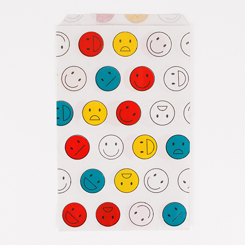 10 bags with Happy Faces pattern