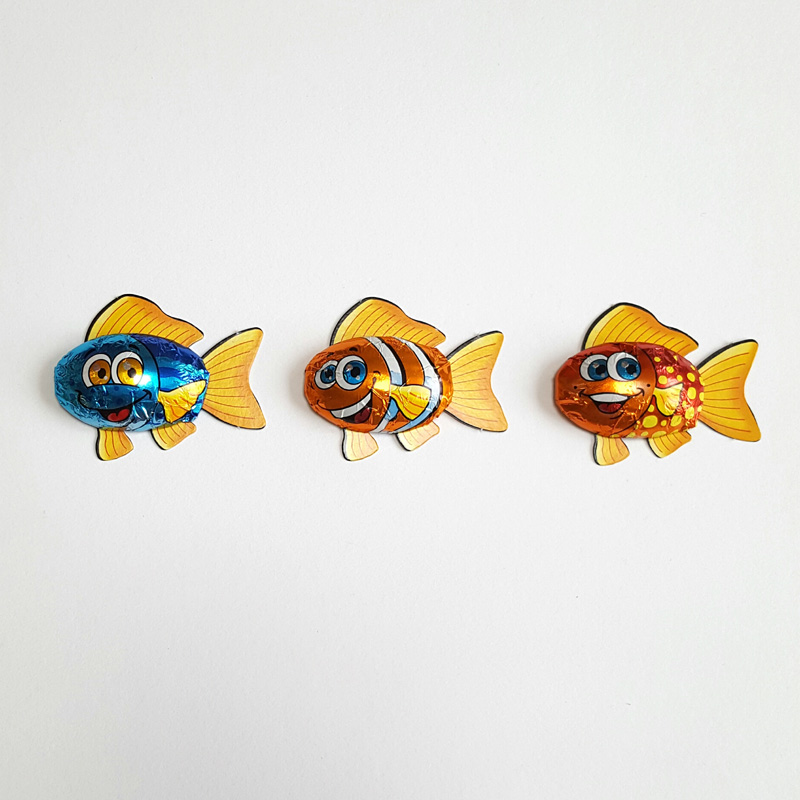 Set of 3 Chocolate rainbow fish