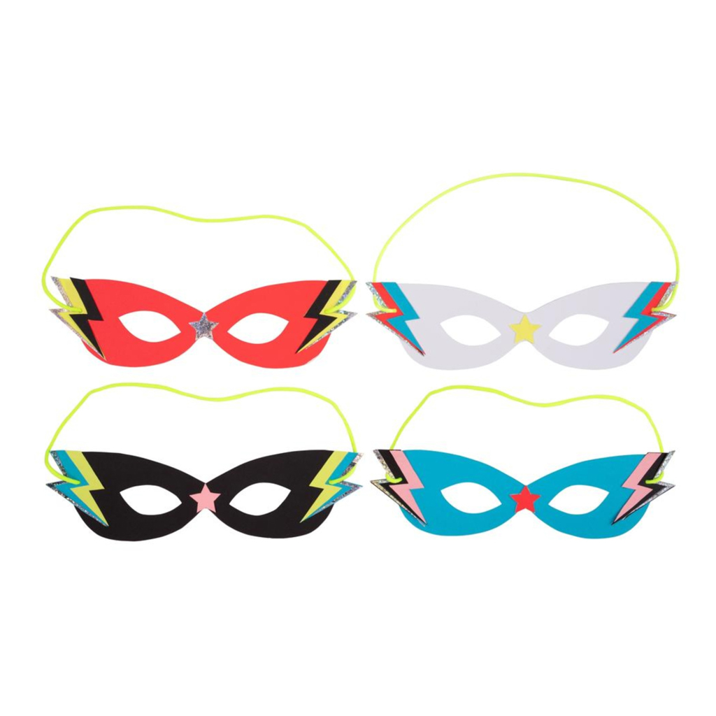 8 Lightning party masks