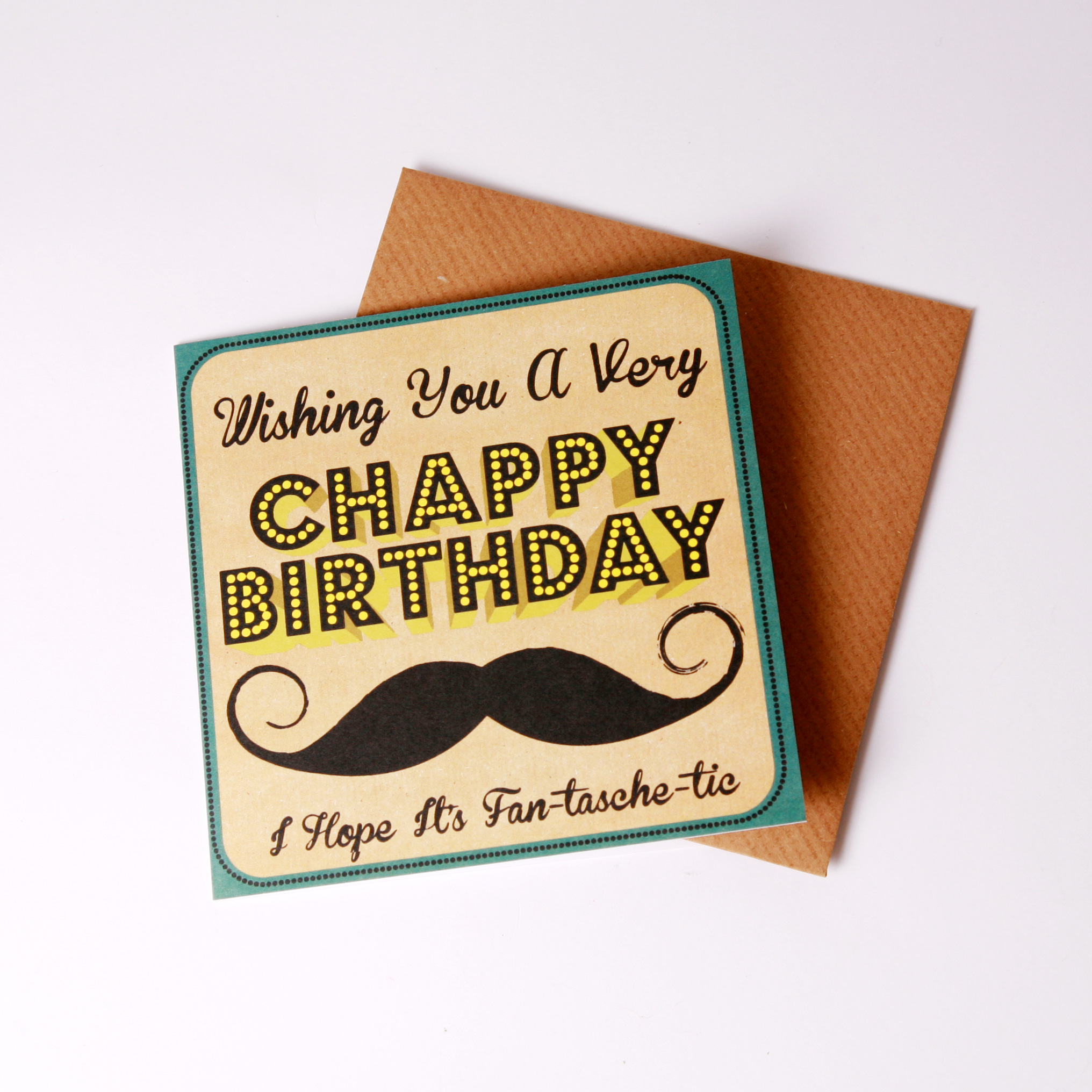'Chappy' birthday card