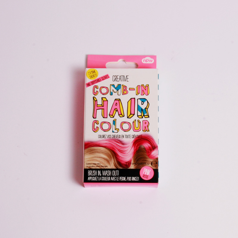 Comb in hair colour-pink