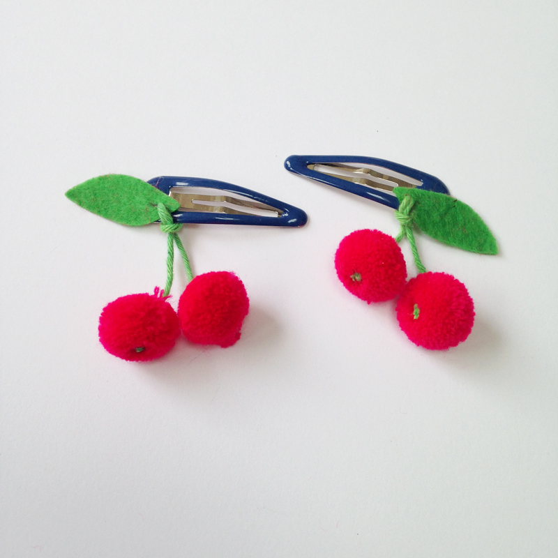 cherries hairclips