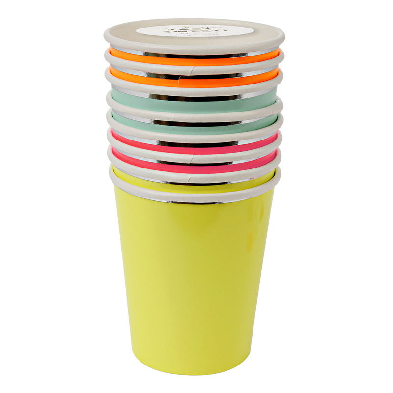 8 Neon Party Cups