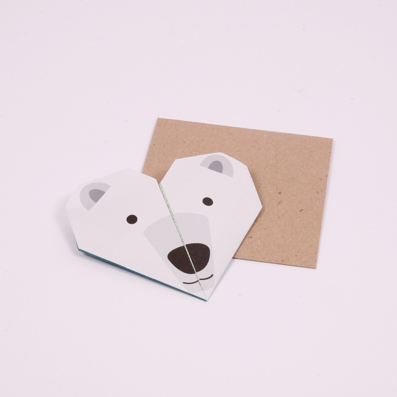 Polar bear origami notes