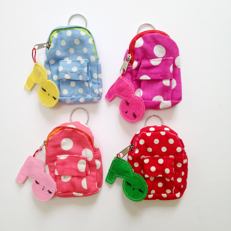 dotted mini backpack purse