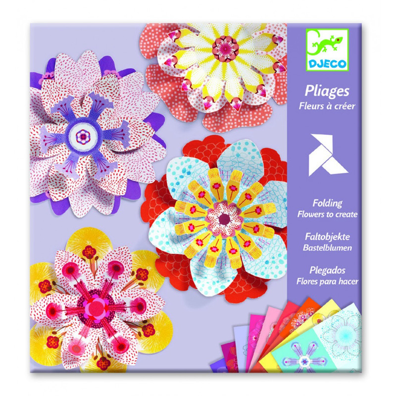Paper flowers craft set