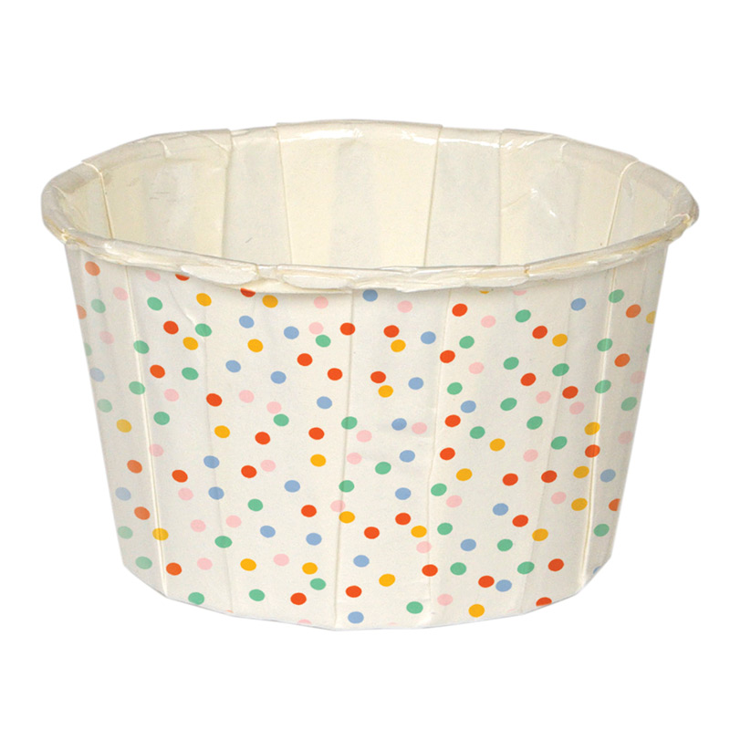 24 Multi-colour dotted candy cups