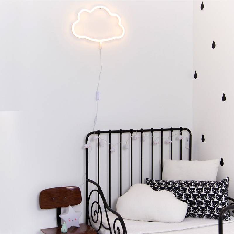 Neon style light: Cloud – white