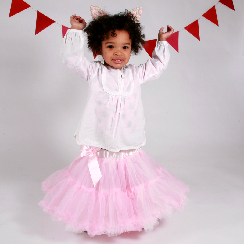 Pink and Cream Frilly Tutu Skirt