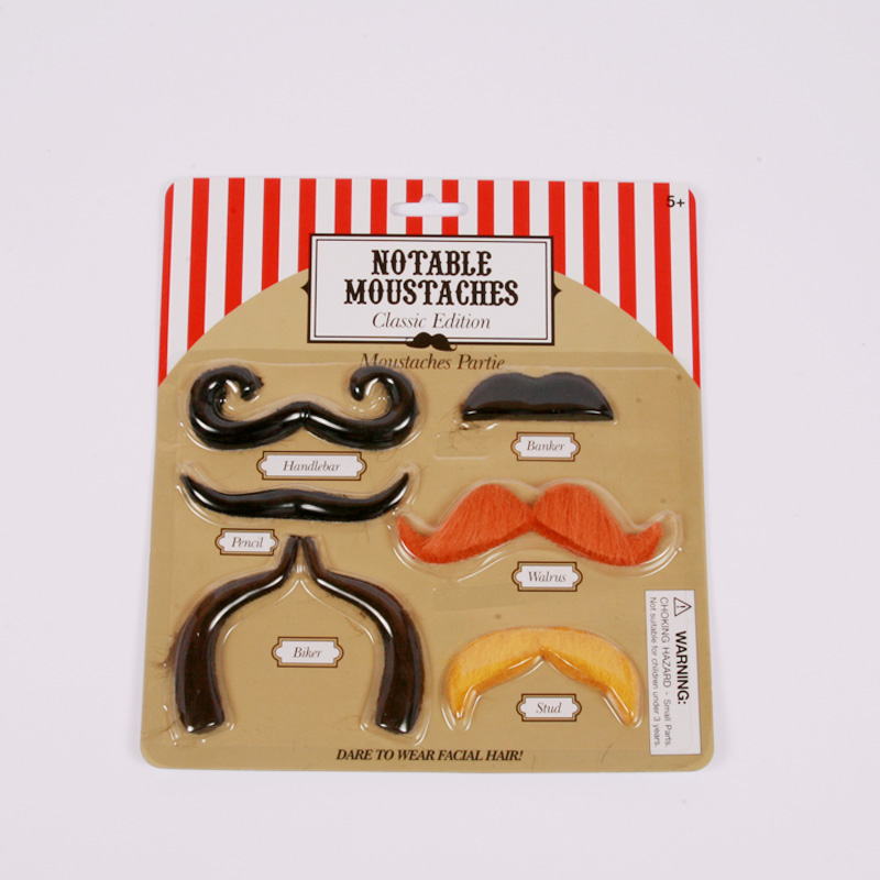 Stick on moustaches - classic edition