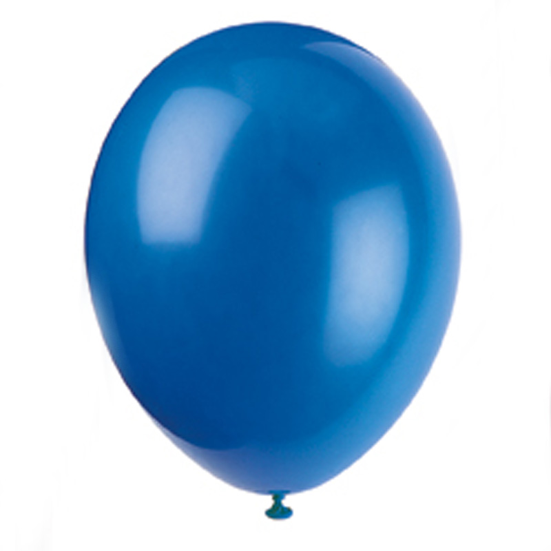 pack of 10 blue balloons
