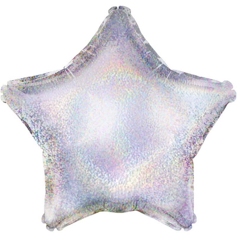 Silver Holographic Star