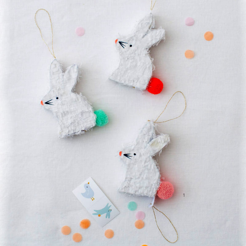 Set of 3 Bunny Pinata Favors