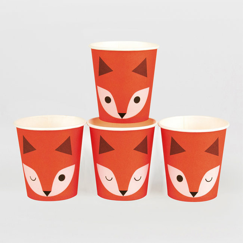 paper cups - mini fox