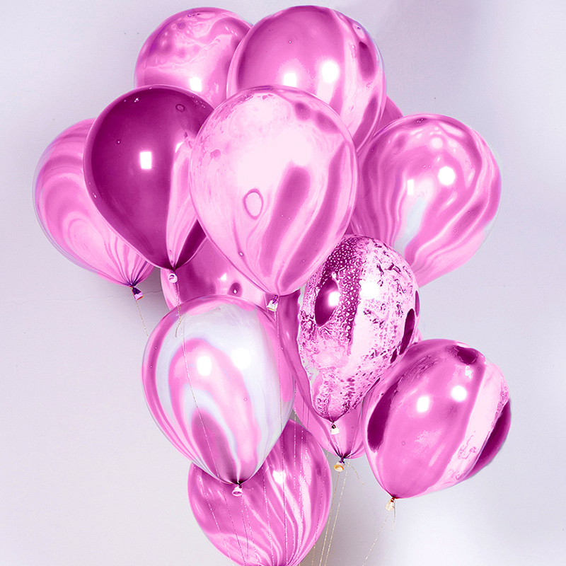 8 Lilac Marble Balloons