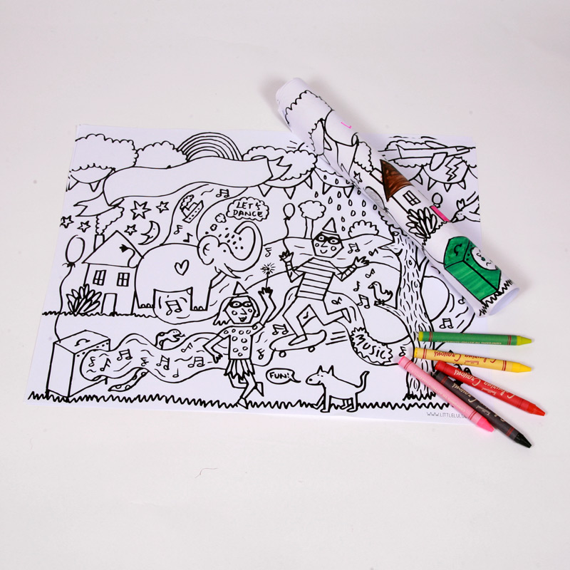 10 colour-in placemats