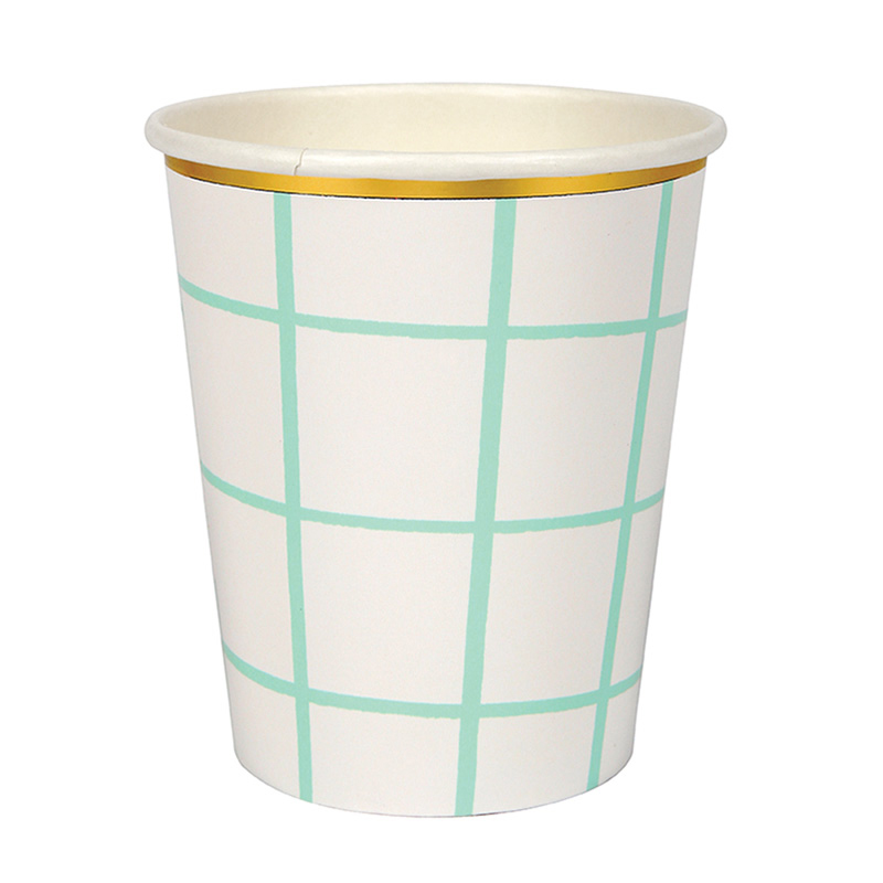 Mint Grid Cups