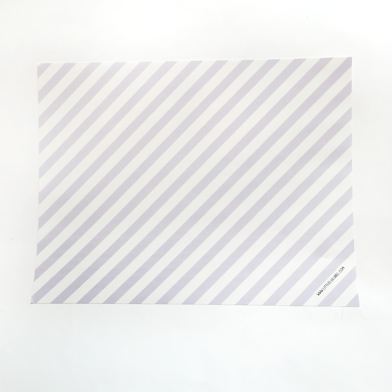 10 lilac stripes placemats