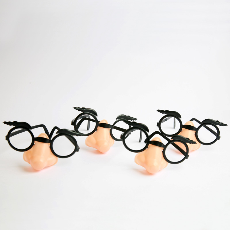 Set of 4 Glasses and nose