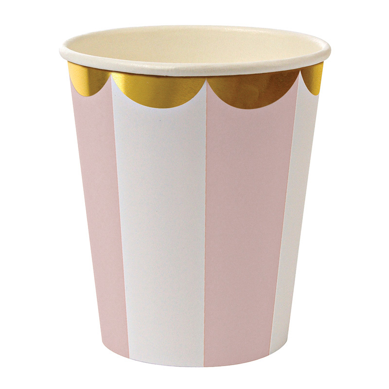 Dusty Pink Striped cups