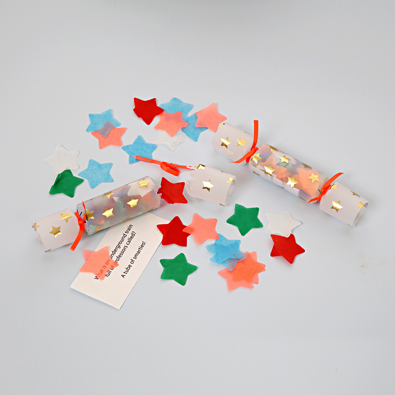 Mini star Confetti Crackers