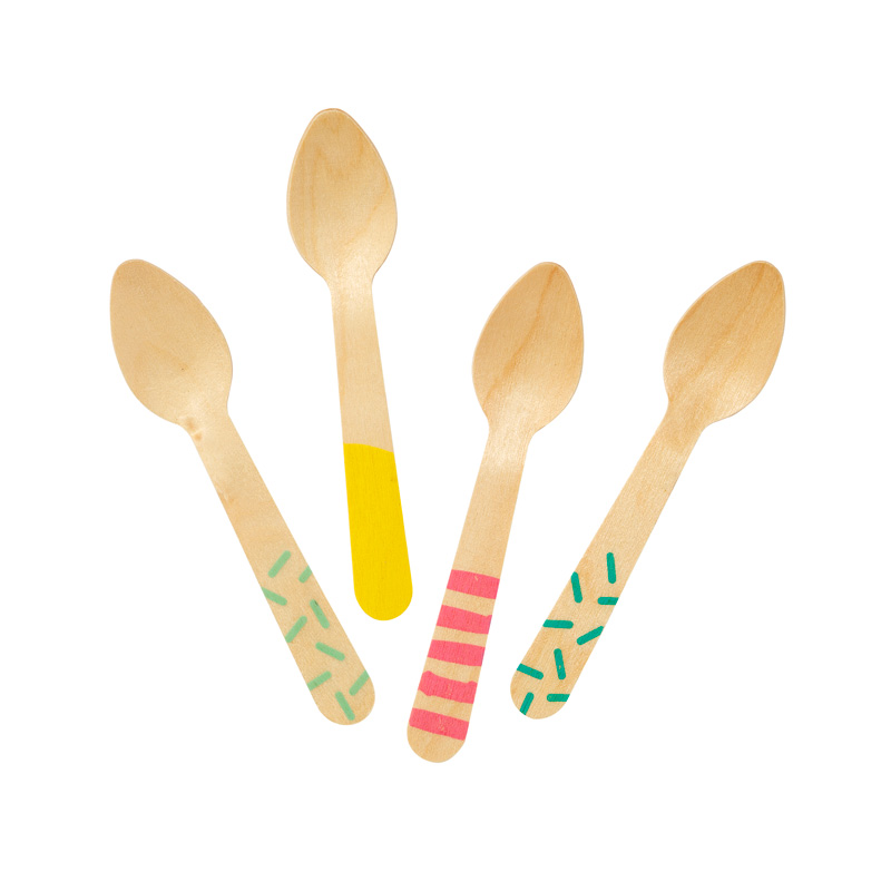 Ice Cream Wooden Teaspoons