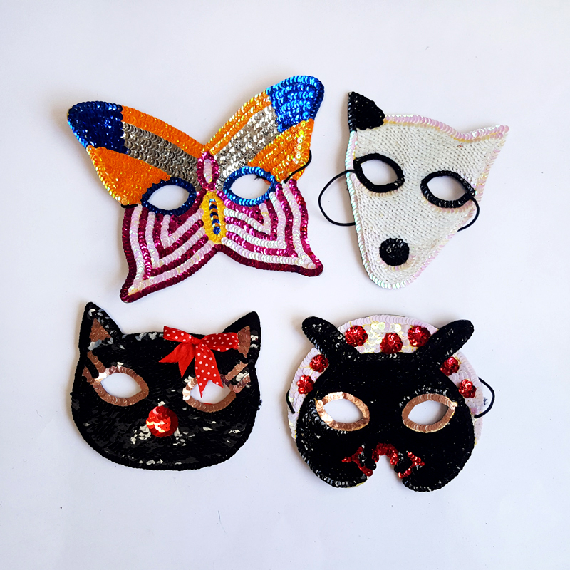 Animal sequin facemask