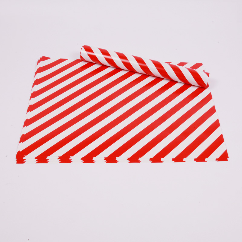 10 red stripe placemats