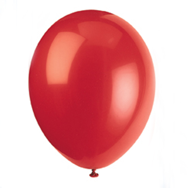 pack of 10 cherry red balloons