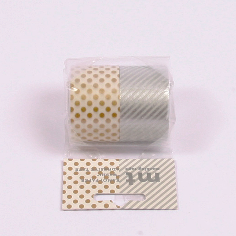 Wide washi tapes - silver & gold