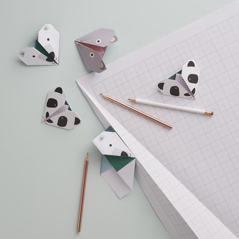 Animal mix origami notes