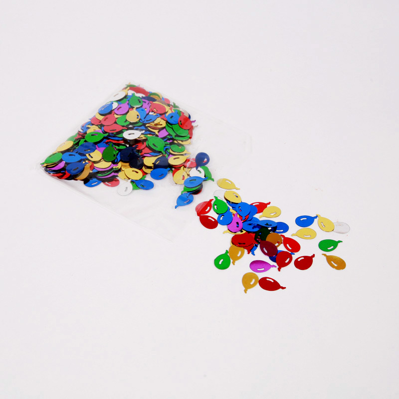 Multi-coloured foil balloon confetti
