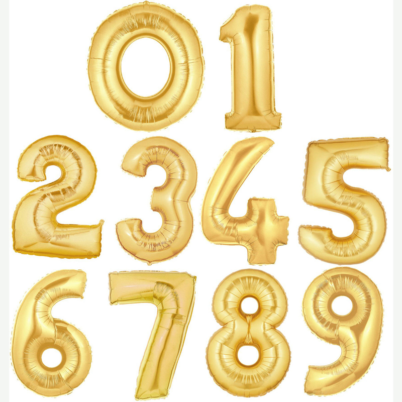 giant foil number balloon gold