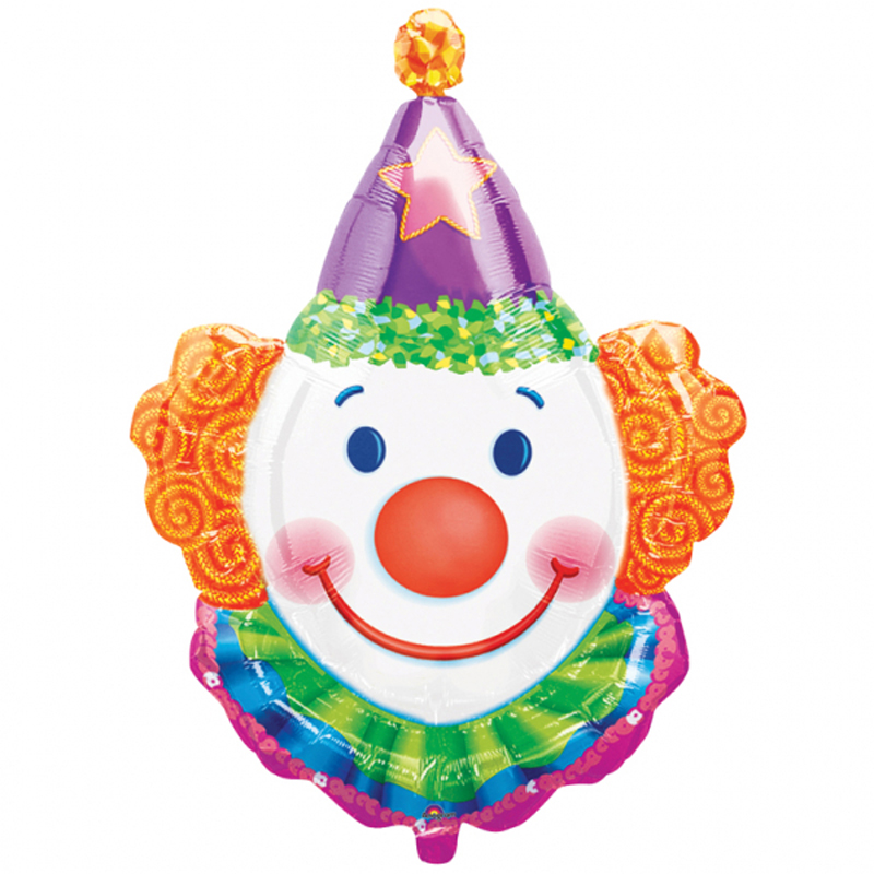 Supersize Clown Foil Balloon