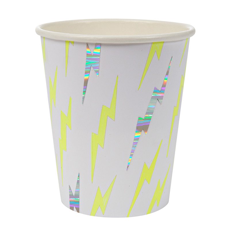 8 silver lightning party cup