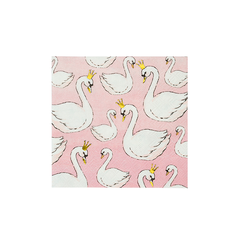 Swans Cocktail Napkins