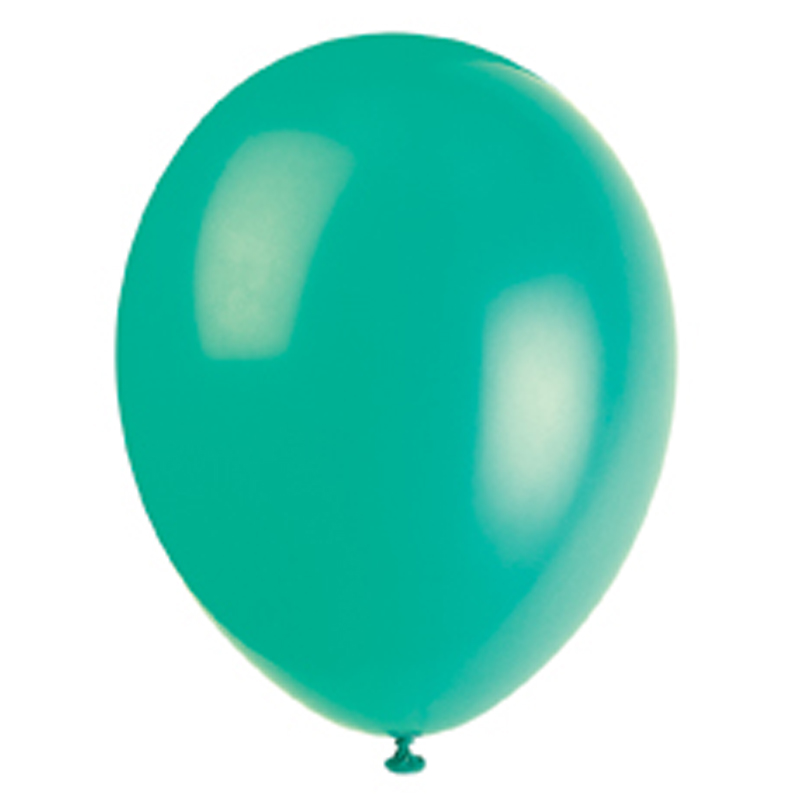 pack of 10 green balloons