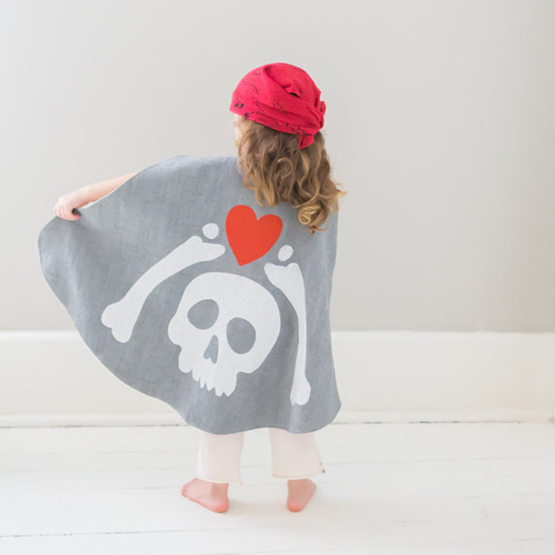Pirate Cape with Hidden Treasure Map