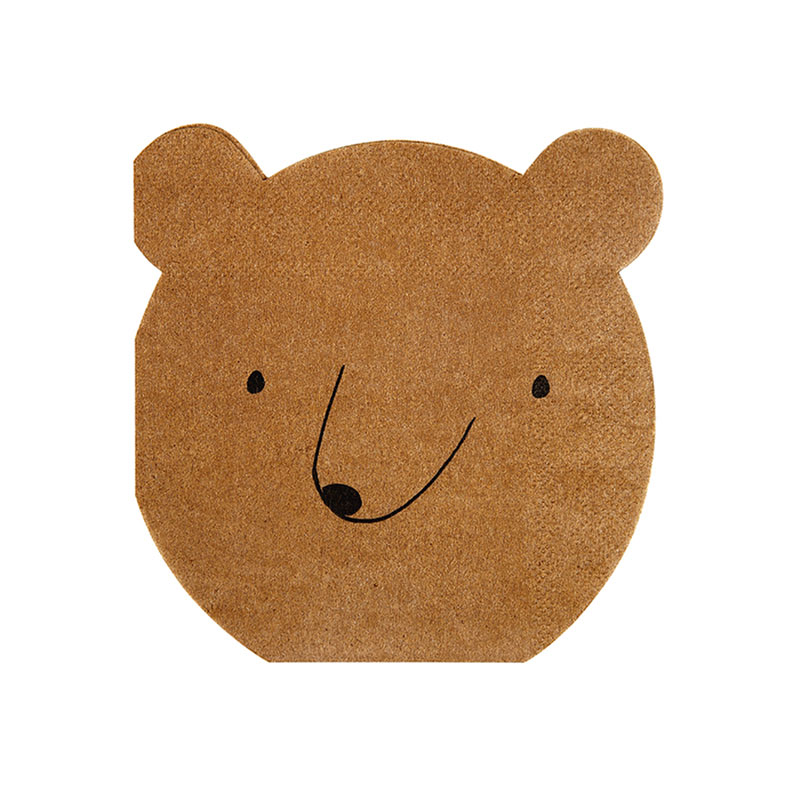 brown Bear small Napkin