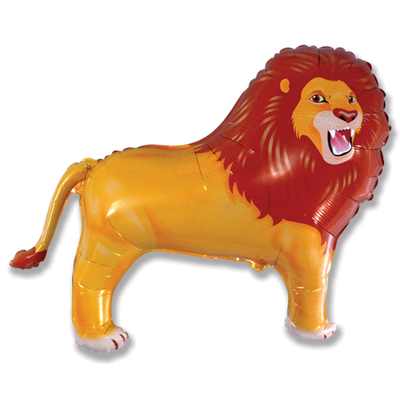 Lion shaped foil balloon