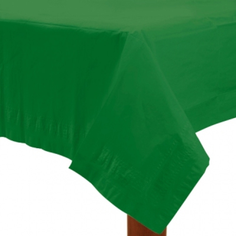 dark green paper table cover