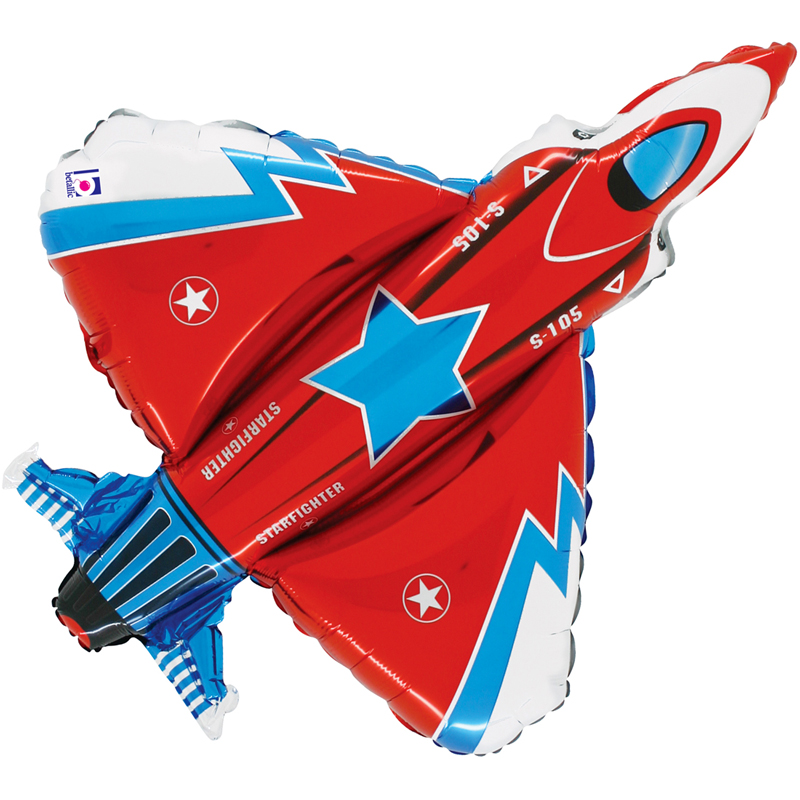 Fighter Jet shaped foil balloon