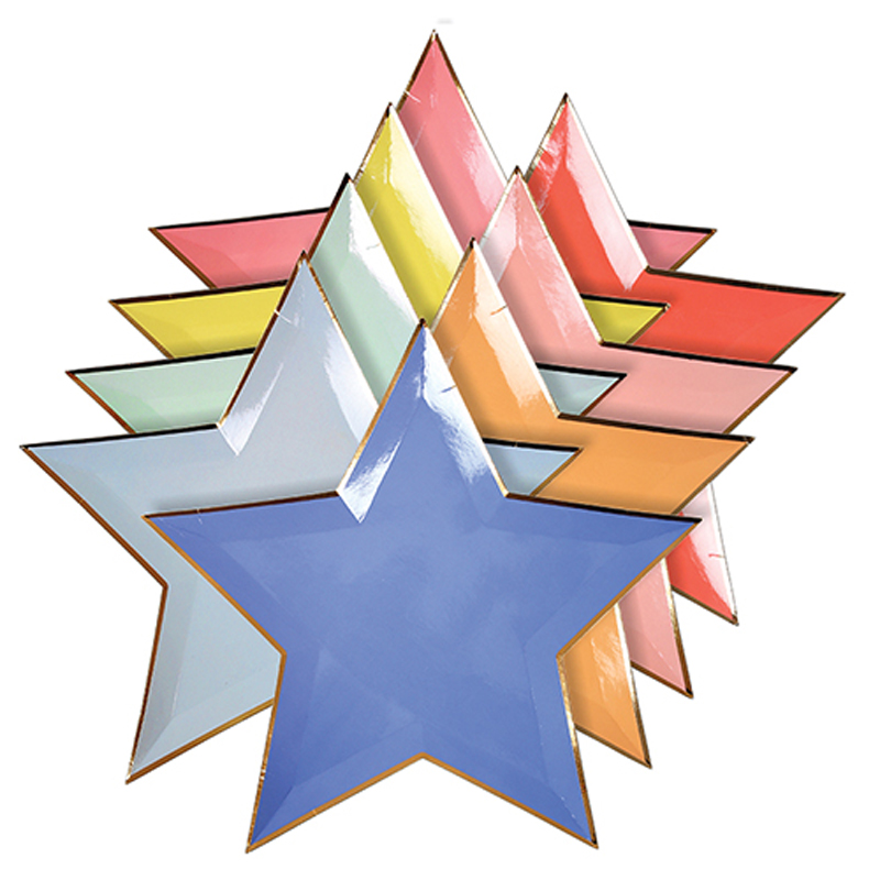 Colour star shaped plates