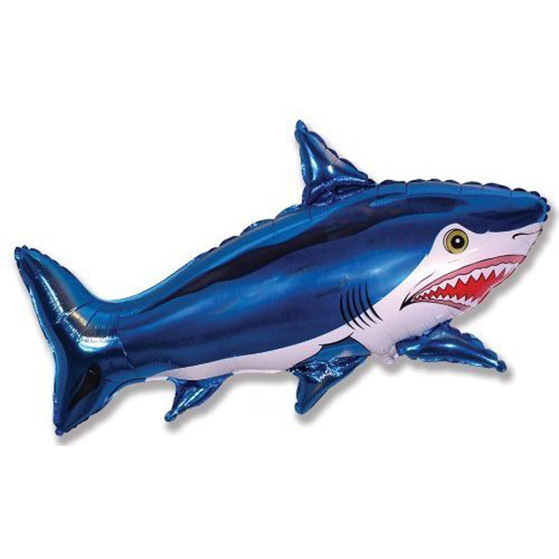 Blue shark foil balloon