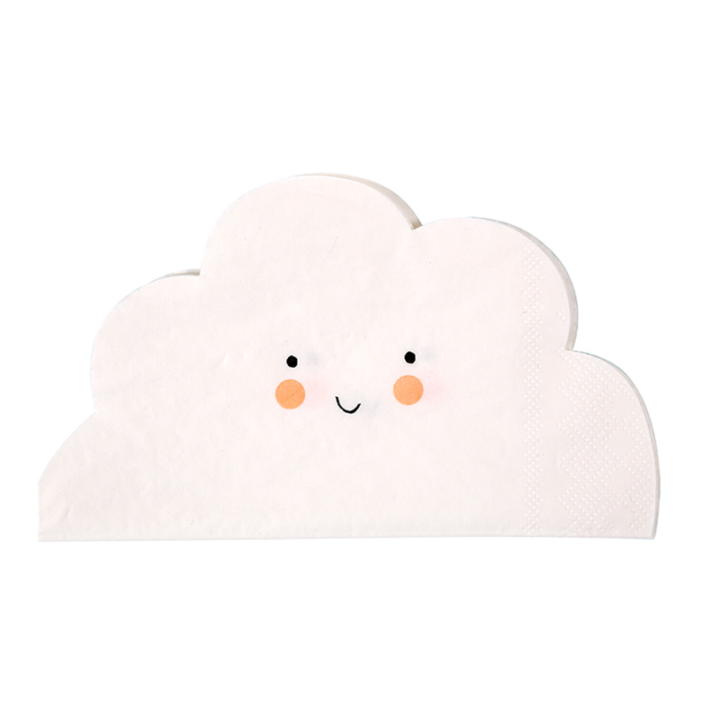 20 Cloud Shaped Napkin