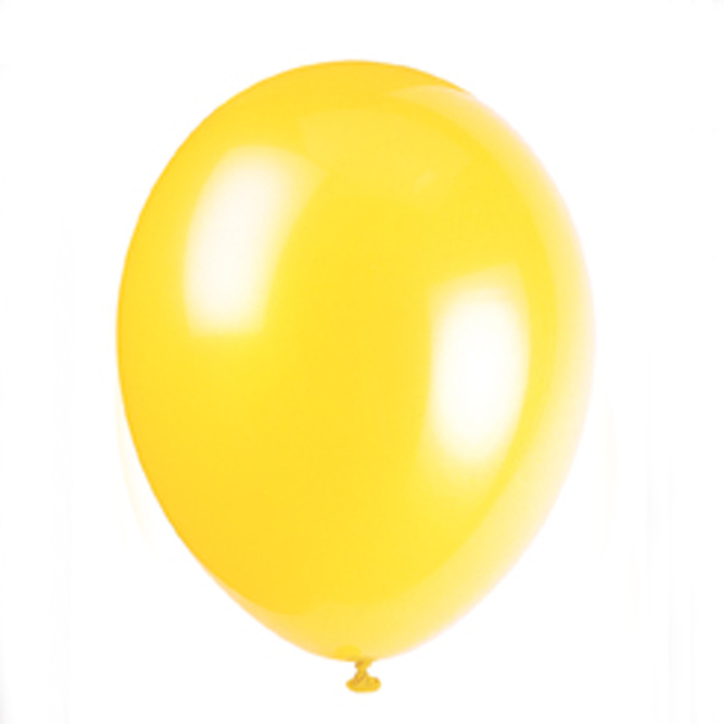 pack of 10 yellow balloons