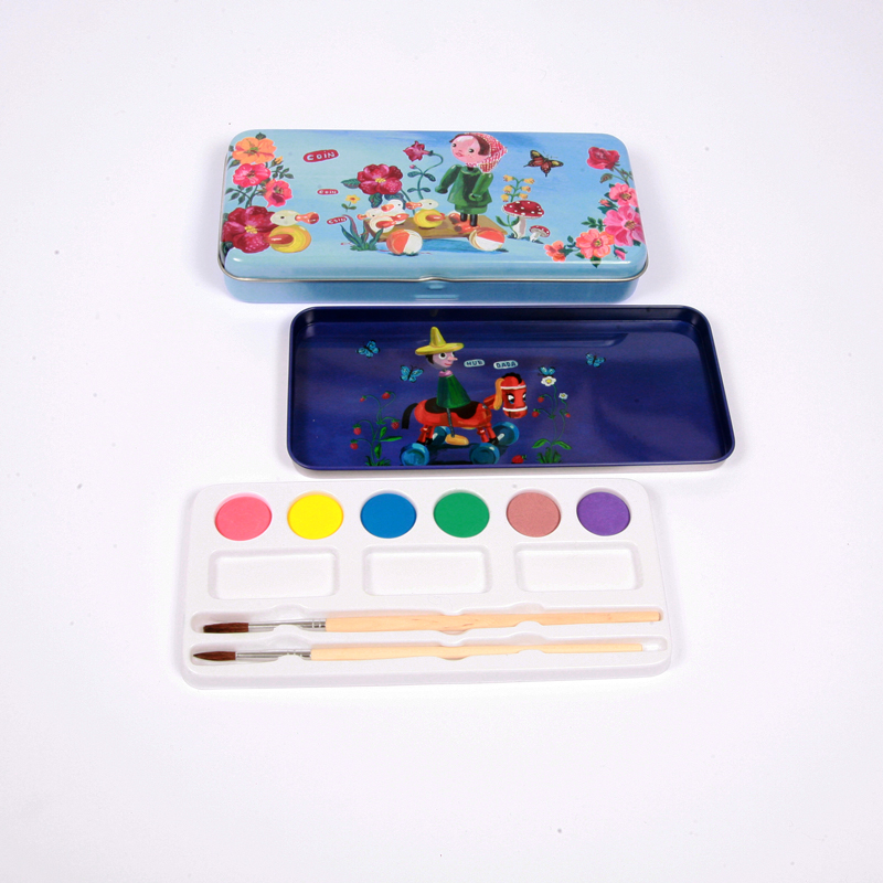 Small tin painting set