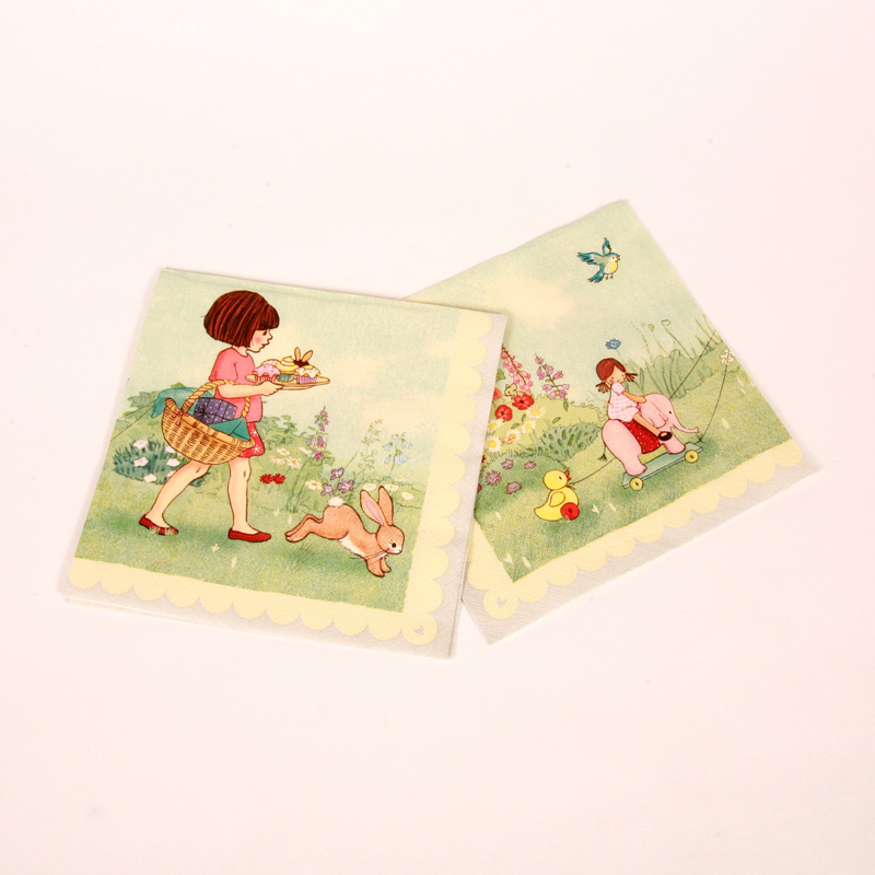 20 Belle and Boo tea party napkins