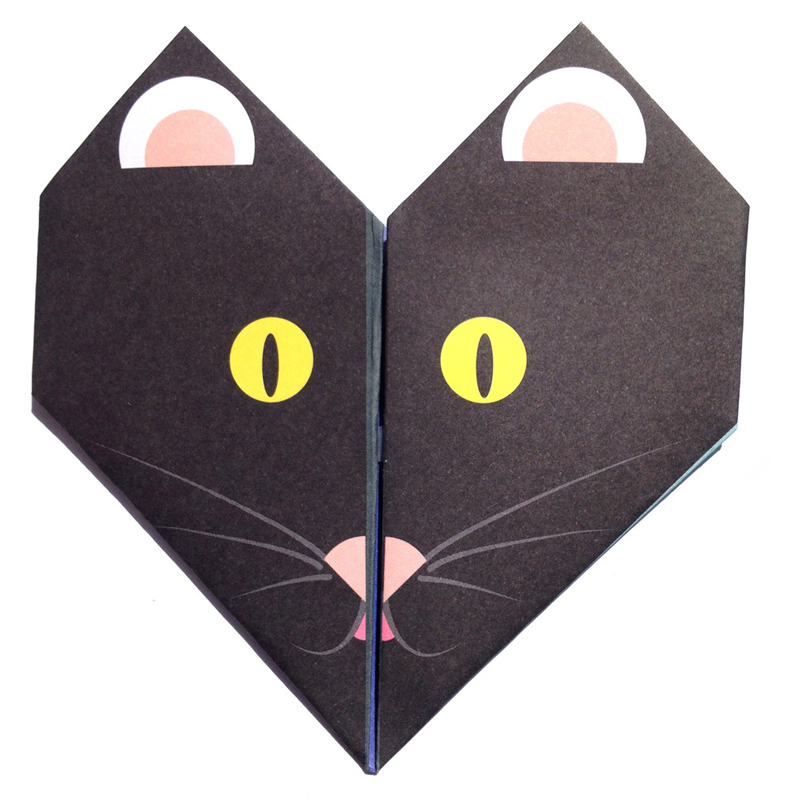 black Cat origami notes