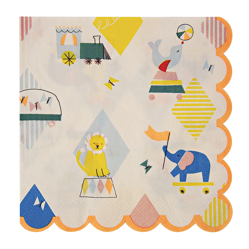 20 Silly Circus large Napkins